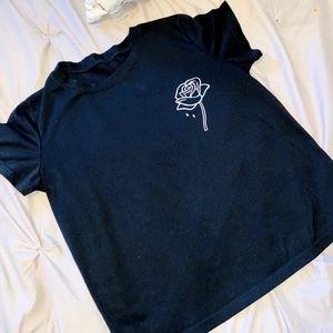 💎Romwe Rose Tshirt